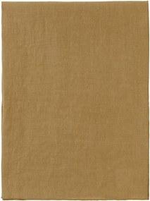 Žltý ľanový behúň na stôl Blomus, 45 x 140 cm