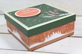 "Ozdobná krabica ""FROHE WEIHNACHTEN"" (17,5x7,5x17,5 cm) 1."