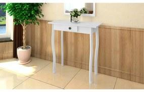 vidaXL Konzolový stolík, MDF, biely