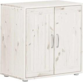 Biela detská skrinka z borovicového dreva Flexa Classic