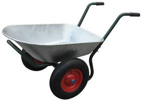 Dvoj kolesový záhradnícky fúrik 66L