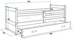 Posteľ RICO 1 - 190x80cm - Biely - Biely