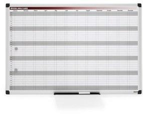 Biela magnetická tabuľa, plánovacia, 900x600 mm, ročná