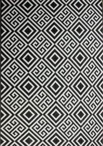 Kusový koberec Gap čiernobiely, Velikosti 80x150cm