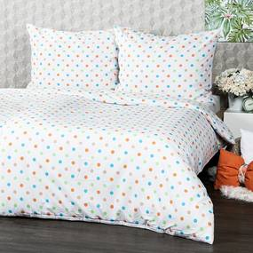 4Home Bavlnené obliečky Dots oranžová, 140 x 220 cm, 70 x 90 cm