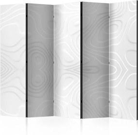 Paraván - Room divider - White waves II 225x172