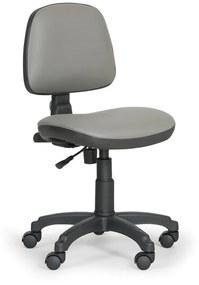 EUROSEAT Pracovná stolička Milano bez podpierok rúk - permanetný kontakt, sivá