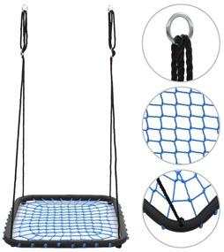 vidaXL Hojdačka modrá  104x76 cm 200 kg