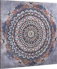 [art.work] Dekoratívny obraz na stenu - abstraktný vzor 2 - plátno napnuté na ráme - 90x90x3,8 cm