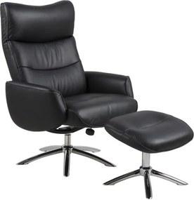 Hector Relaxační křeslo s podnožkou Westfield černé
