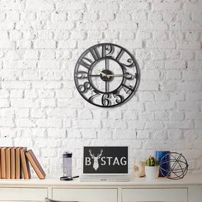 Kovové nástenné hodiny The Old Times, 50 × 50 cm