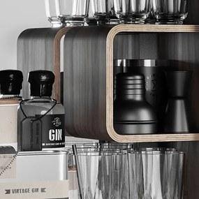 Kúpeľňová skrinka / kanister - Bathroom Cabinet, Gas Red, 6 variantov - Danish Fuel Varianta: Walnut