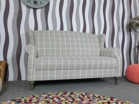 (2291) COSIMO elegantna kockovaná pohovka šedá