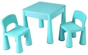 NEW BABY New Baby set Detská sada stolček a dve stoličky NEW BABY mätový Zelená |
