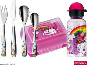 Detský jedálny set Unicorn WMF ružový 6 ks