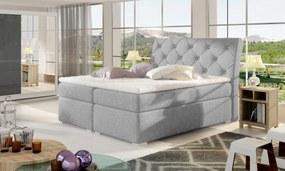 Moderná box spring posteľ Bralin 180x200, šedá