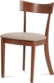 jedálenská stolička, farba čerešňa, poťah krémový