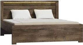 INDIANAPOLIS posteľ 19 s roštom 160x200 cm jaseň tmavý