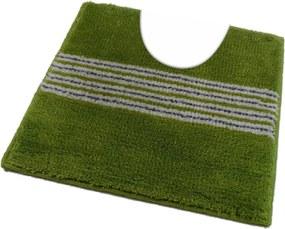 ROUTNER Kúpeľňová predložka IRSINA Zelená 10502 - Zelená / 50 x 50 cm WC s výkrojom 10502