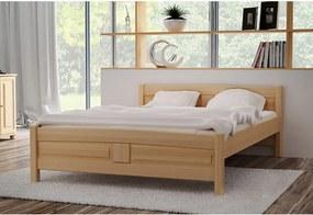 Expedo Vyvýšená posteľ ANGEL + matrac + rošt ZADARMO, 90x200 cm, jelša-lak