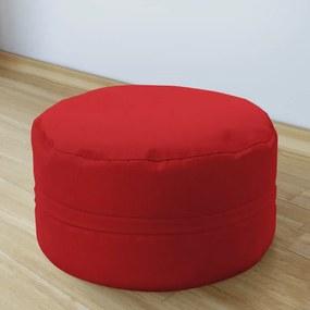 Goldea bavlnený sedacie bobek 50x20 cm - červený 50 x 20 cm