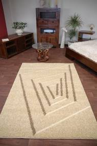 3kraft Kusový koberec STRUCTURAL TEDDY 240 × 330 cm vanilkový