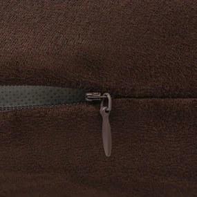 vidaXL Návliečky na vankúše, 4 ks, umelý semiš, 40x40 cm, hnedé