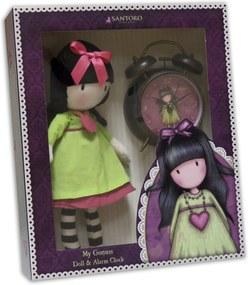 Santoro London - Handrová Bábika 30cm plus budík - Gorjuss - Heartfelt Zelená, ružová, čierna, biela