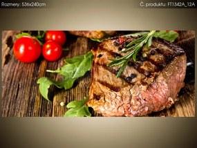 Fototapeta Grilovaný hovädzí steak 536x240cm FT1342A_12A