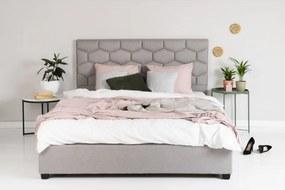 Hector Čalúnená posteľ Honey 180x200 dvojlôžko – sivé