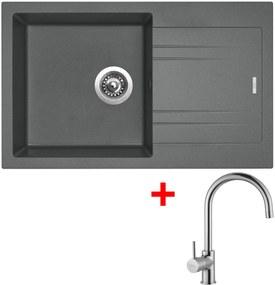 Set Sinks LINEA 780 N Titanium + batéria VITALIA Chróm