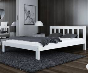 AMI nábytok Posteľ Alena biela 120x200 masív