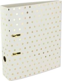Dosky na dokumenty Go Stationery Gold Polka Shimmer Cream, veľké
