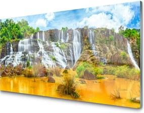 Obraz plexi Vodopád stromy príroda