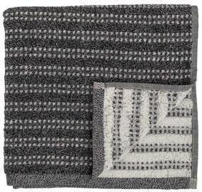 Bloomingville Froté uterák Black 100x50 cm