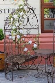 Hnedá kovová lavica Romanace