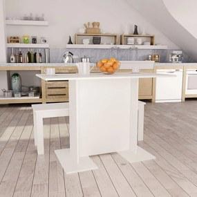 vidaXL Jedálenský stôl biely 110x60x75 cm drevotrieska
