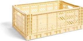 HAY Úložný box Crate L, light yellow