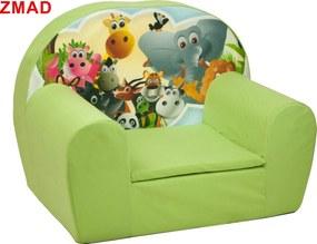 Fimex Detské kresielko Zvieratka - rôzne farby Zelené ZMAD