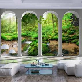 Fototapeta - Pillars and Forest 400x280