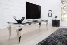 TV Board Modern Barock 160cm čierna-strieborná