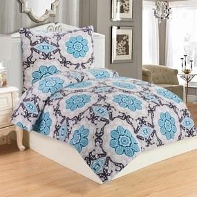 Jahu Obliečky mikroplyš Dona Blue, 140 x 200 cm, 70 x 90 cm