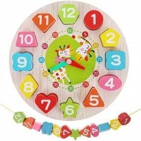 Kruzzel 9356 Drevené detské edukačné hodiny