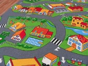 Detský koberec LITTLE VILLAGE 100 x 150 cm