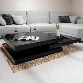 Jurhan Konferenčný stolík JR31 vysoký lesk, čierna 76x76 cm