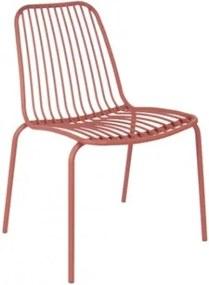 Venkovní židle LINEATE, cihlová Present time LM1837BR