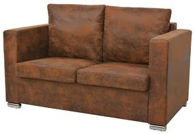 vidaXL 2-miestna sedačka, 137x73x82 cm, umelá semišová koža