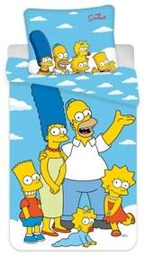 JERRY FABRICS Obliečky Simpsons Family Clouds in the sky Bavlna, 140/200, 70/90 cm