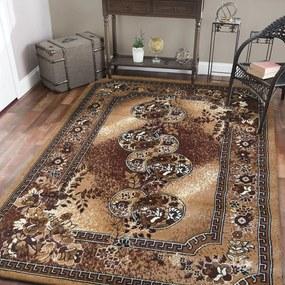 DomTextilu Hnedý koberec do obývačky vo vintage štýle 19652-135380