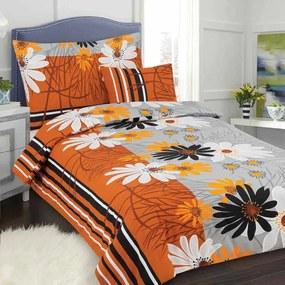 HOD Obliečky ALICA oranžová Bavlna 70x90 140x200 cm